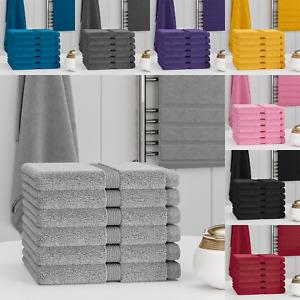 100% Egyptian Cotton 4/6/12/24 Pack Face Towel Cloth Set Towels Flannels Soft