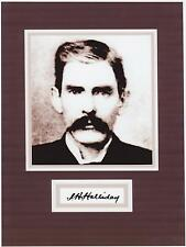 DOC HOLLIDAY  8 x 10 REPRINT PHOTO & REPRINT AUTOGRAPH ON GLOSSY PHOTO PAPER