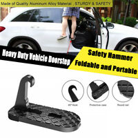 Folding Car Truck Doorstep Hook Latch Safety Hammer Car Rooftop Climbing pedal