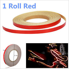 Red Car Reflective Body Rim Stripe Sticker DIY Tape Self-Adhesive 1cm 150 feets