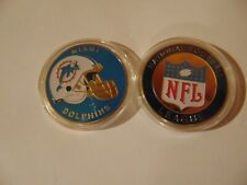 CHALLENGE COIN NFL NATIONAL FOOTBALL LEAGUE FREE PLASTIC CAPSULE MIAMI DOLPHINS