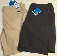 "NWT Columbia Men's Washed Out Shorts 10"" Inseam AM4471 Tan or Gray Flat Short"