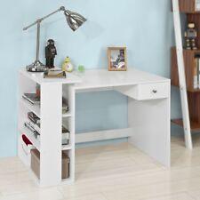 SoBuy® Table Bureau informatique Plan de travail 3 étagères 1 tiroir, FWT35-W,FR