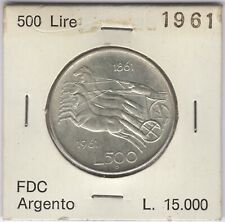 More details for 1961 italy silver 500 lire coin | european coins | pennies2pounds