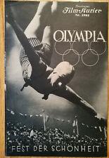 """Filmprogramm  Leni Riefenstahl  """"Fest der Schönheit"""" , Olympiade 1936"""
