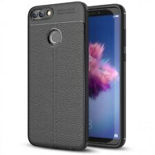 Huawei P Smart Hülle Leder Look Handyhülle von NALIA, Slim Silikon Case Cover