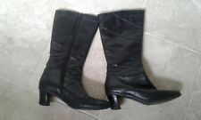 Ladies CLARKS K Black Leather Mid Calf Boots , Size 5 UK