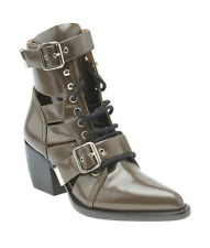 Chloe Rylee Brown Leather Ankle Boots, Size 38