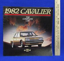 Vintage 1982 Cavalier Chevrolet Car Dealership Brochure Information Booklet Sale