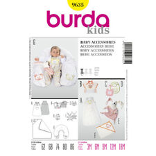 Burda Easy SEWING PATTERN 9635 Baby Sleeping Bag,Nursing Pillow,Toy,Bibs,Towel