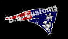 "Rhinestone Transfer New England ""Patriots Head"" Hotfix , Iron On, Bling"