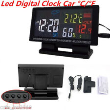 Car Digital Clock Alarm Thermometer Hygrometer Voltage Weather Forecast Gauge 1P