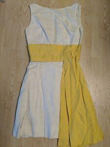 Vintage 1950's-1960's LANZ Salzburg Austria Sundress Yellow Sash