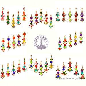 1 pack of RAINBOW Indian DIAMANTE Bridal FESTIVAL Crystal TIKKA Bindi JEWEL Gem