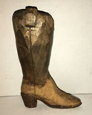 Antique Hand Carved Shoe Boot Folk Art Kentucky Allegheny Appalachia