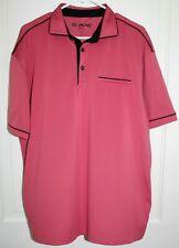 GMAC Apparel Polo Golf Shirt Men's XL Dark Pink Black Trim Polyester & Spandex