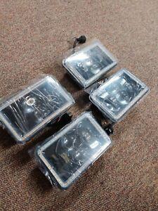 AUXBEAM 4PCS 4X6INCH LED Headlights Hi-Lo Projector Beam DRL For Peterbilt 379