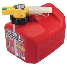 "No-Spill 1415 1-1/4-Gallon Poly Gas Can (CARB Compliant) 7.5"" x 8"" x 10"""