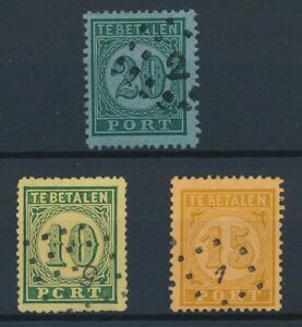 [30719] Dutch India 1874 Good lot postage due stamps Very Fine used