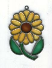 Flower Stained Glass Sunflower Sun-Catcher Window CHRISTMAS TREE ORNAMENT DECOR!