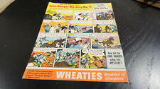 Wheaties Lone Ranger Mystery No 11 Cardboard Panel