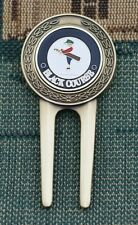Vintage_ Bethpage  Black Course _ Gold Plated Golf Ball Marker + Divot Tool