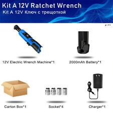 "Cordless 3/8"" Electric 12V Ratchet Wrench Tool Set"