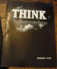 Think January 1958 IBM Magazine Free US Shipping Islam and Its Prophet Speech