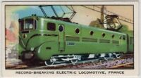 French National Railways 205 mph Electric Locomotive Vintage Ad Trade Card