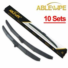 "ABLEWIPE 10Sets HYBRID 22"" + 22"" PREMIUM QUALITY WINDSHIELD WIPER BLADES"