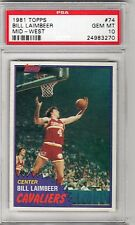 1981 TOPPS BILL LAIMBEER RC PSA 10 RARE POP 15 (WITH NEW PSA CASE)