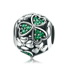 Hot Diy Silver Cz European Charms Beads Fit Bracelet Necklace Jewelry Making E19