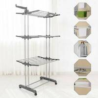 Foldable Clothes Hanger Laundry Washing Airer Horse Dryer Rack Hanging Garment