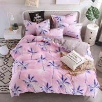3D Blue Coconut Tree Pink KEP2120 Bed Pillowcases Quilt Duvet Cover Kay
