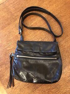 NEW w tags HOBO INTERNATIONAL black leather handbag purse shoulder crossbody bag