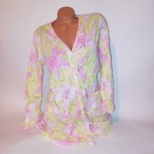 Lilly Pulitzer Robe Small Yellow Green Pink Floral