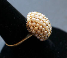Antique Victorian 14k seed pearl ring
