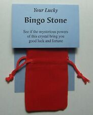 Your LUCKY BINGO STONE A Gemstone Novelty Gift-includes a book, velvet pouch