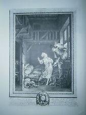 Planche gravure Pierre Philippe Choffard  Marchez tout doux d'aprés P.A Baudouin