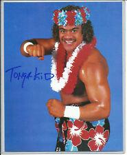 TONGA KID 2017 LEAF AUTOGRAPH 8X10 PHOTO WWE SUPERSTAR LEAF CERTIFIED