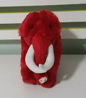 RED MAMMOTH PLUSH TOY STUFFED ANIMALS MAMMOTH SELF STORE TOY 22CM TALL 23 LONG