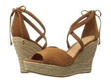UGG Australia Reagan Chestnut Suede Wedge Sandal Women's Sizes 8.5,9,10 NEW