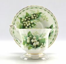 Royal Albert LILY OF THE VALLEY Flower of Month MAY Bone China Teacup Set