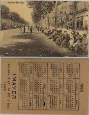 Calendario de bolsillo. IMAYER. Tarragona. Año 1986.