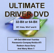 1,750,000 Windows Drivers 32 & 64 BIT - Windows XP VISTA 7 and 8