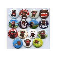 "DOMO 1"" PINS / BUTTONS (domokun kids toys tv show game plush badges)"