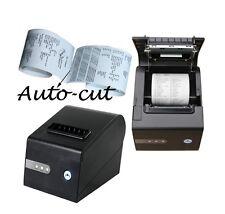 POS Thermal Receipt Kitchen 3 1/8 inch Printer Print Auto Cutting Cut Autcut USB