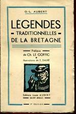 O.L AUBERT: LEGENDES TRADITIONNELLES DE LA BRETAGNE. 1949.