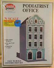 Model Power N Scale Podiatrist Office With Signal Bridge, Signs, & Poles #1529