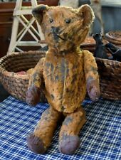 Antique Black and Brown Proud American Teddy Bear